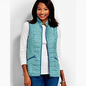 NWT  Talbots gingham checkered puffer vest size 1X
